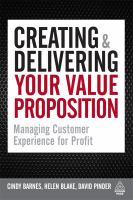 Creating & Delivering the Value Proposition