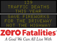 Message Monday - Save fireworks for the driveway, not the highway