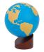 : Montessori Sandpaper Globe - Land & Water