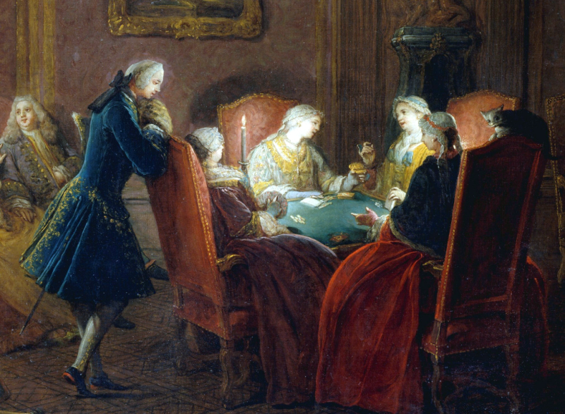 Card Players in a Drawing Room by Pierre Louis Dumesnil the younger