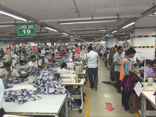 A garment factory in Dhaka, Bangladesh
