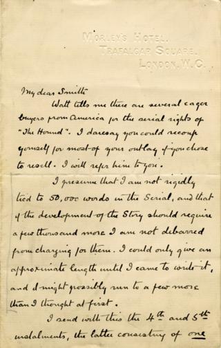 Arthur Conan Doyle. Letters to H. Greenhough Smith no. 18