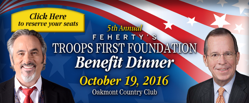 5th Annual Feherty's Troops First Foundation Benefit Dinner - October 19, 2016 - Oakmont Country Club - Smail Auto Blog
