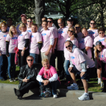 Smail Ford Helps Distribute Pink Terrible Towels at Steelers Breast Cancer Awareness Game