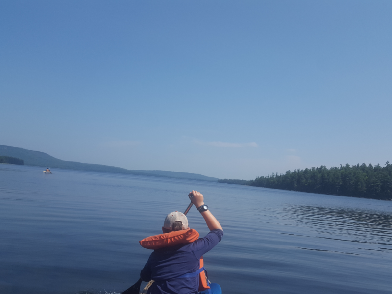 Paddling during the Moose river trip 1