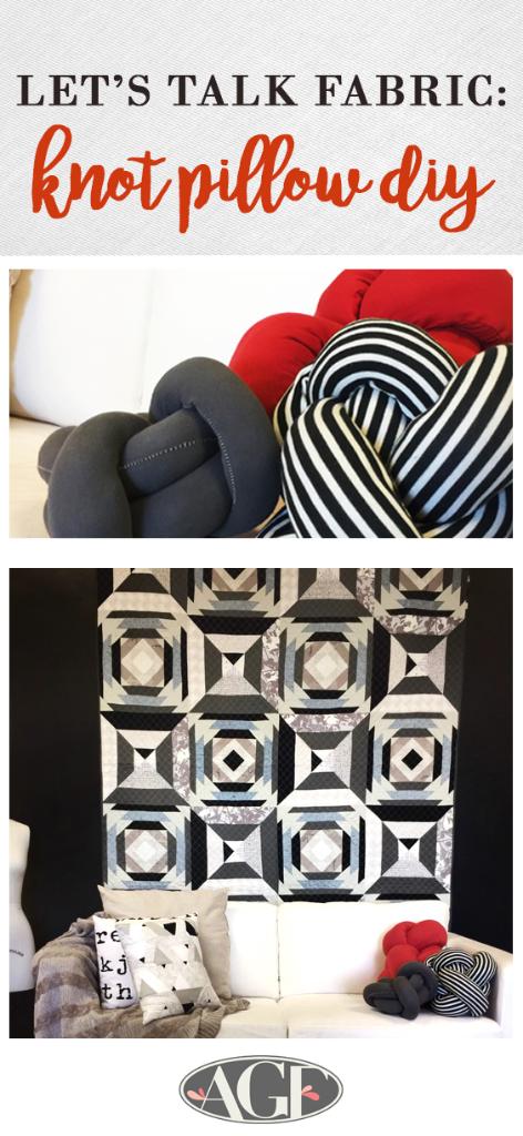 Lets Talk Fabric - knot pillow  pinterest