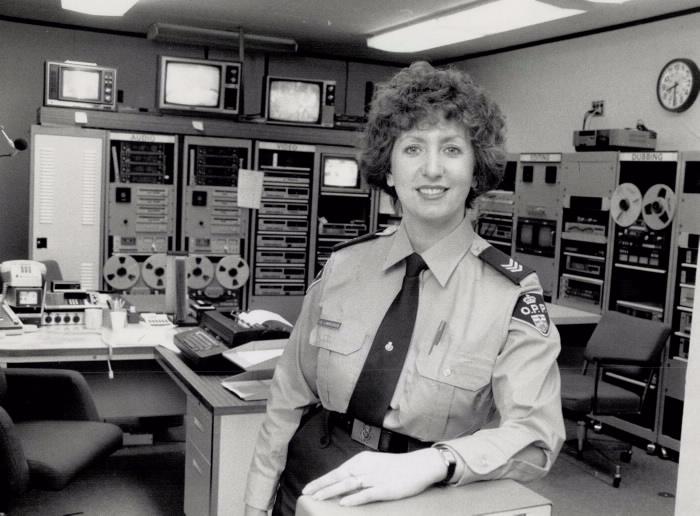 Portrait of Irena Lawrenson in uniform in the workplace