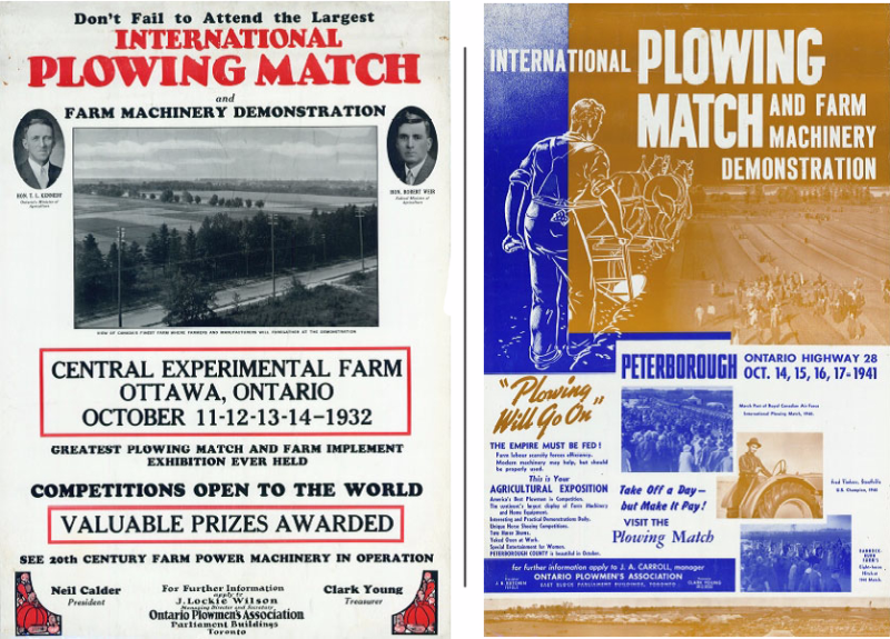 Poster of Internation Plowing Match and Farm Machinery Demonstration  with graphics and photos and dates for the the Peterborough event (2)